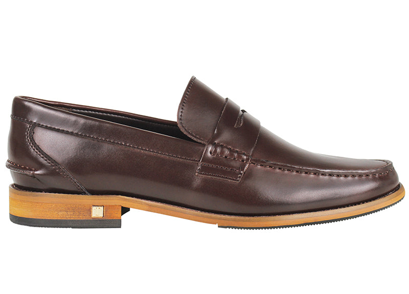 Tomaz F159 Penny Loafers (Coffee) (1552573497433)