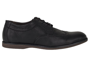 Load image into Gallery viewer, Tomaz C364 Casual Wingtip Brogues (Black) - Tomaz Shoes (756426178649)