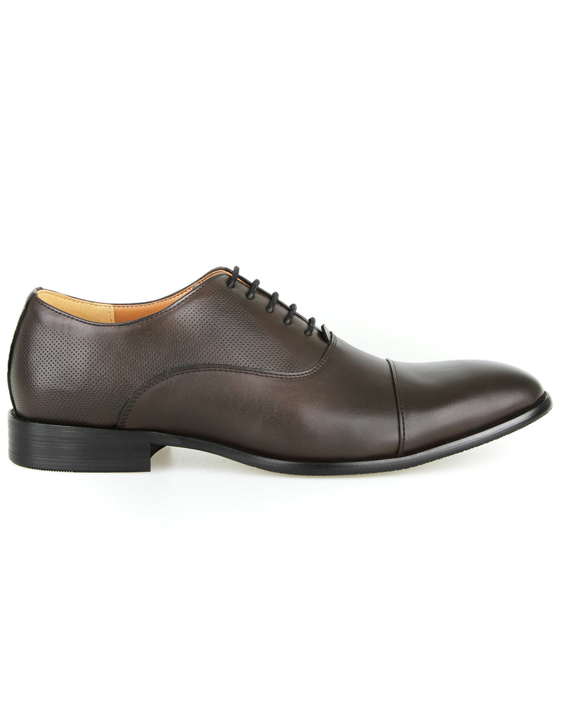 Load image into Gallery viewer, Tomaz F232 Cap Toe Oxfords (Coffee)