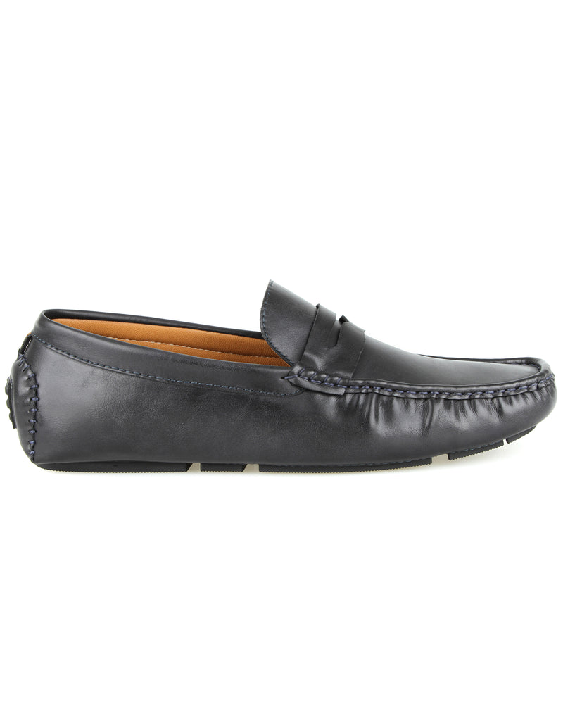Tomaz C323 Penny Moccasins (Navy) men's shoes casual, men's dress shoes, discount men's shoes, shoe stores, mens shoes casual, men's casual loafers men's loafers sale, men's dress loafers, shoe store near me.