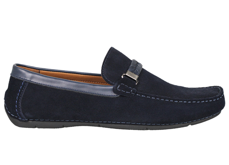 Tomaz C337 Braided Buckled Loafers (Navy) - Tomaz Shoes (791337402457)