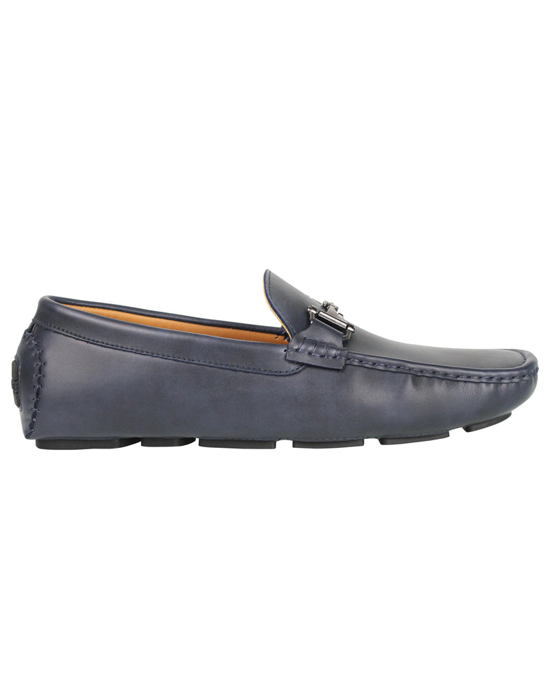 Load image into Gallery viewer, Tomaz C356 Front Buckled Moccasins (Navy) men's shoes casual, men's dress shoes, discount men's shoes, shoe stores, mens shoes casual, men's casual loafers men's loafers sale, men's dress loafers, shoe store near me.