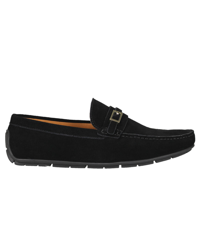 Load image into Gallery viewer, Tomaz C358 Front Buckled Moccasins (Black)