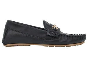 Tomaz C327 Buckle Loafers (Black) (Kids) - Tomaz Shoes