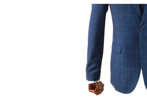 Load image into Gallery viewer, Tomaz 8108 Chekered Slim Fit Blazer (Navy) - Tomaz Shoes (743516536921)
