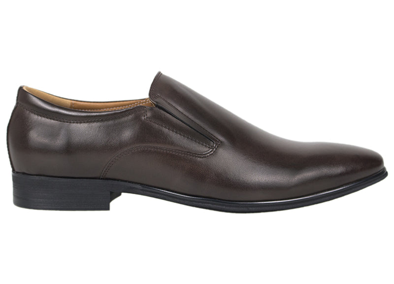 Tomaz F172 Formal Slip On (Coffee) - Tomaz Shoes (419767222301)