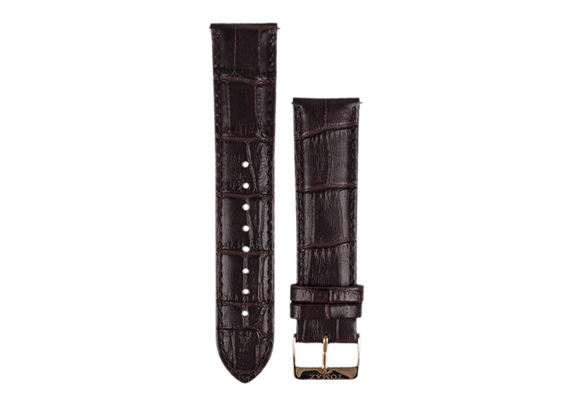 Tomaz 22mm Leather Watch Strap - Bamboo  (Coffee) - Tomaz Shoes (425770582045)