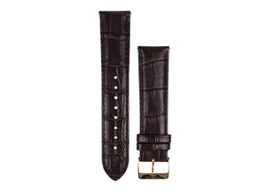 Tomaz 22mm Leather Watch Strap - Bamboo  (Coffee) - Tomaz Shoes