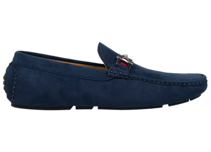 Tomaz C310 Buckled Loafers (Navy) - Tomaz Shoes (404487962653)