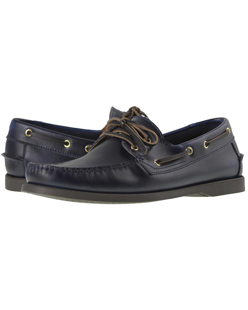 Load image into Gallery viewer, Tomaz 972-5D Leather Boatshoes (Navy)