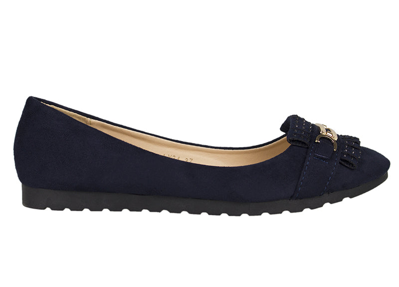 Tomaz LY34 Suede Leather (Navy) - Tomaz Shoes (752611328089)