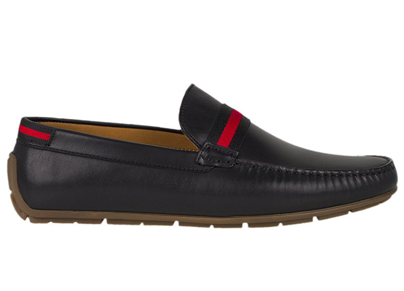 Tomaz C331 Striped Penny Loafers (Black) - Tomaz Shoes (782158135385)