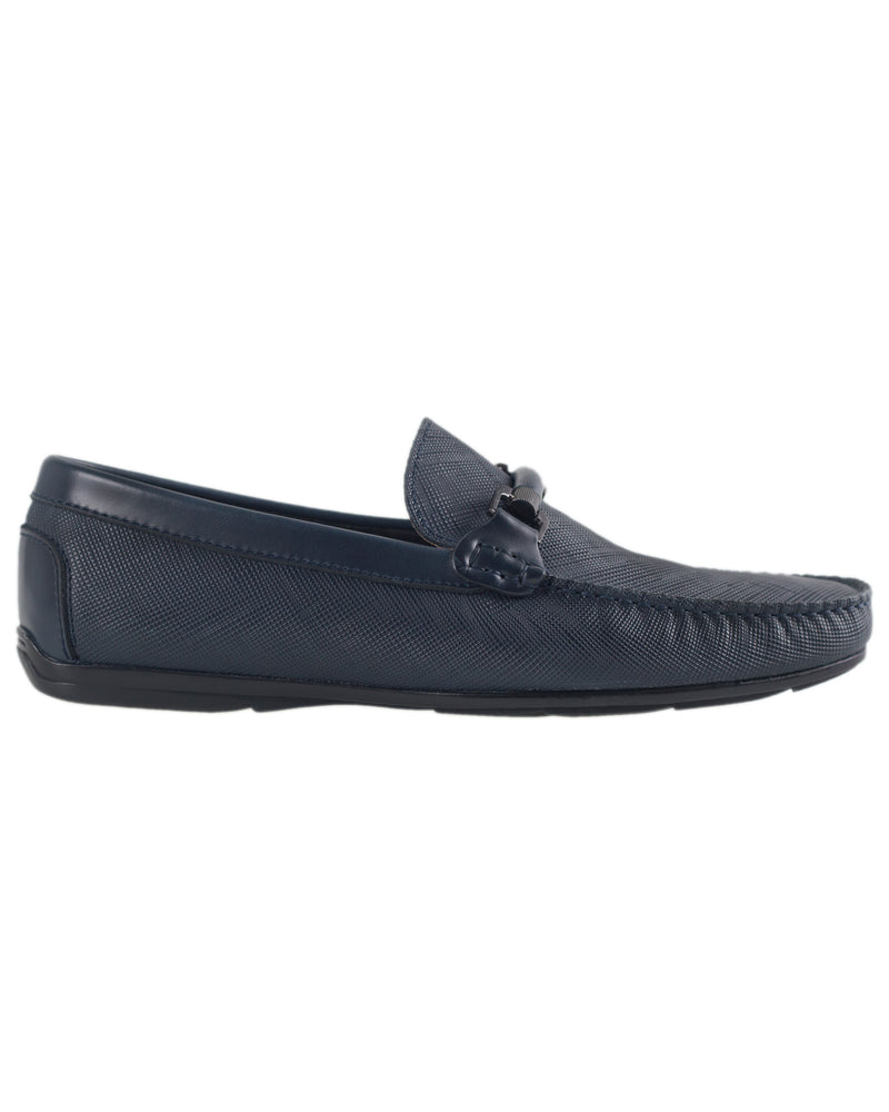 Tomaz BF283 Front Buckle Moccasins (Navy)