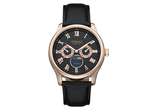 Tomaz Men's Watch TQ003 (Rose Gold/Black)