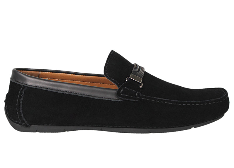 Tomaz C337 Braided Buckled Loafers (Black) - Tomaz Shoes (791336419417)