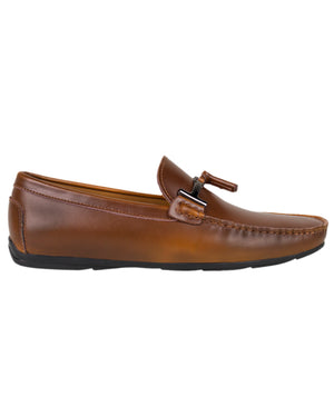 Load image into Gallery viewer, Tomaz C339 Buckled Tassel Loafers (Brown)