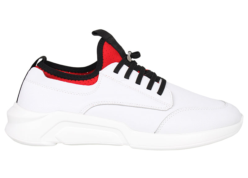 Tomaz A-41 Men's Sneakers (White) - Tomaz Shoes (792214732889)