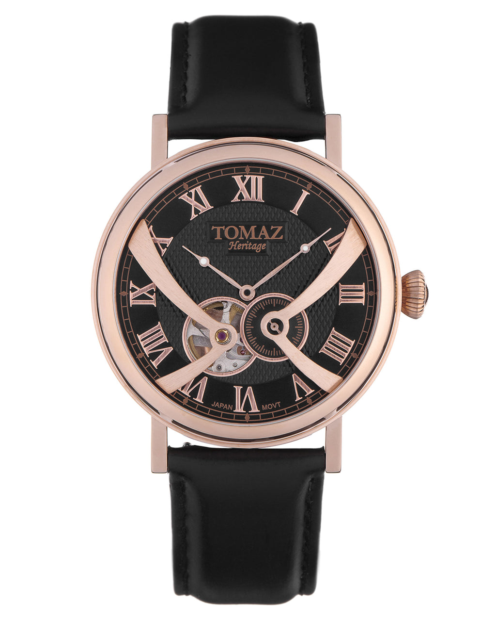 Tomaz Men's Watch TW015 (Rose Gold/Black)