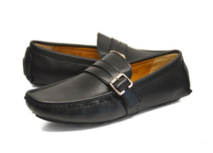 Tomaz C148 Side Buckled Loafers (Black) - Tomaz Shoes