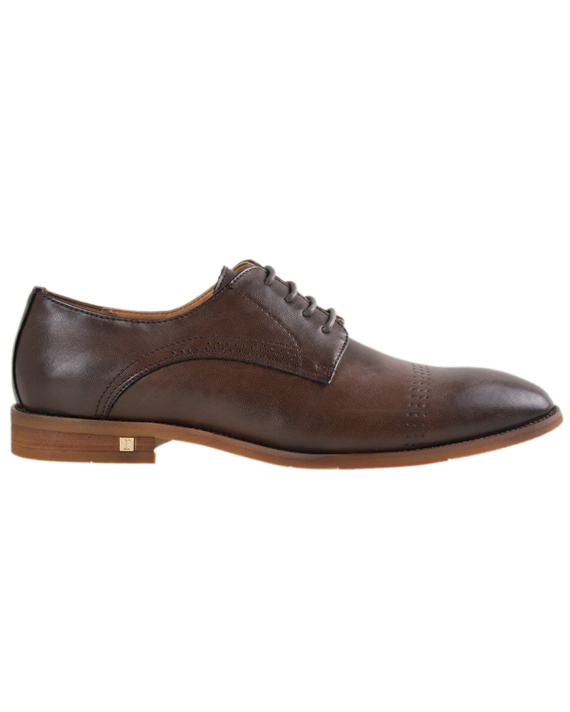 Tomaz F137 Perforated Lace Up Formal (Coffee)