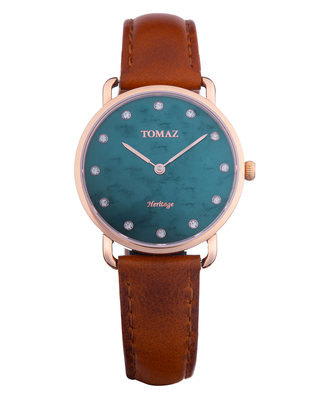 Tomaz Ladies Watch G1L-D7 (Rose Gold/Green Marble)