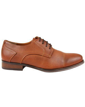 Load image into Gallery viewer, Tomaz F204 Cap Toe Derbies (Brown)