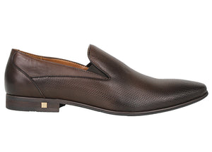 Tomaz F178 Formal Slip On (Coffee) - Tomaz Shoes