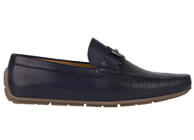 Tomaz C333 Front Buckled Loafers (Navy) - Tomaz Shoes (782161576025)