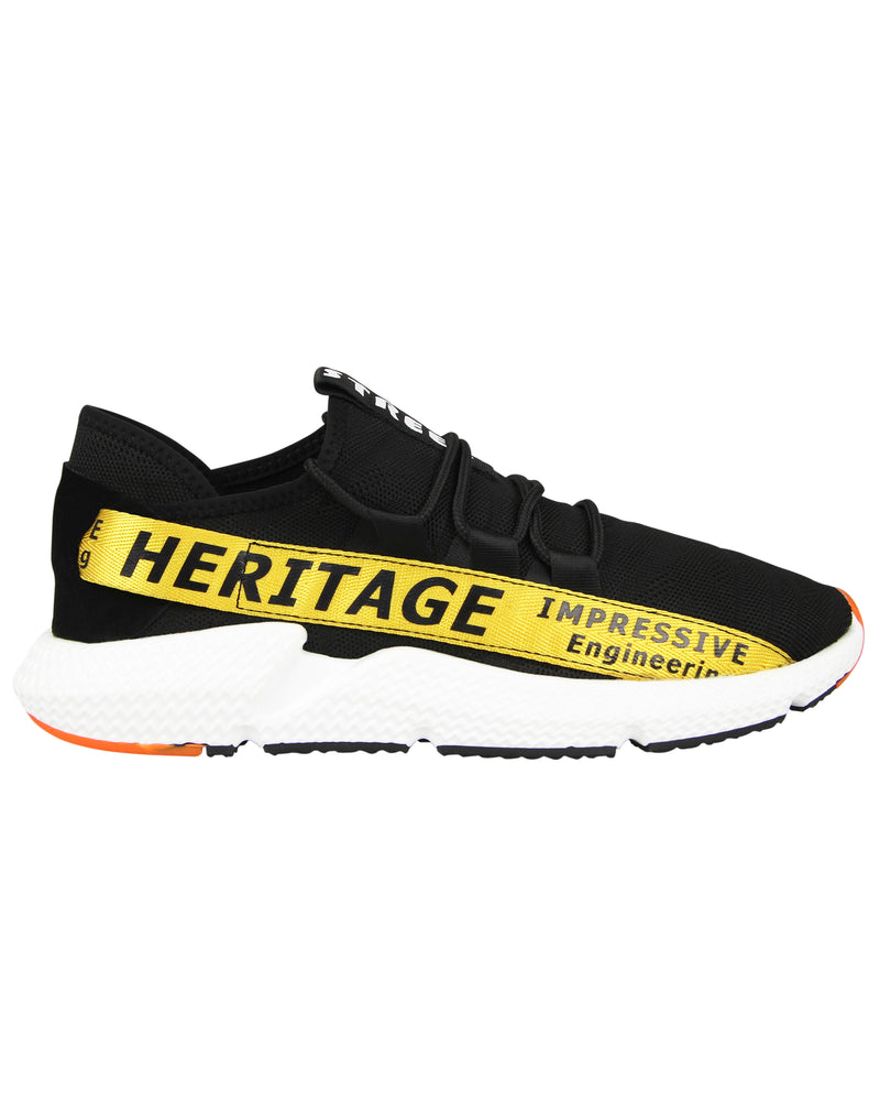 Tomaz C385 Casual Sneakers (Black Yellow)