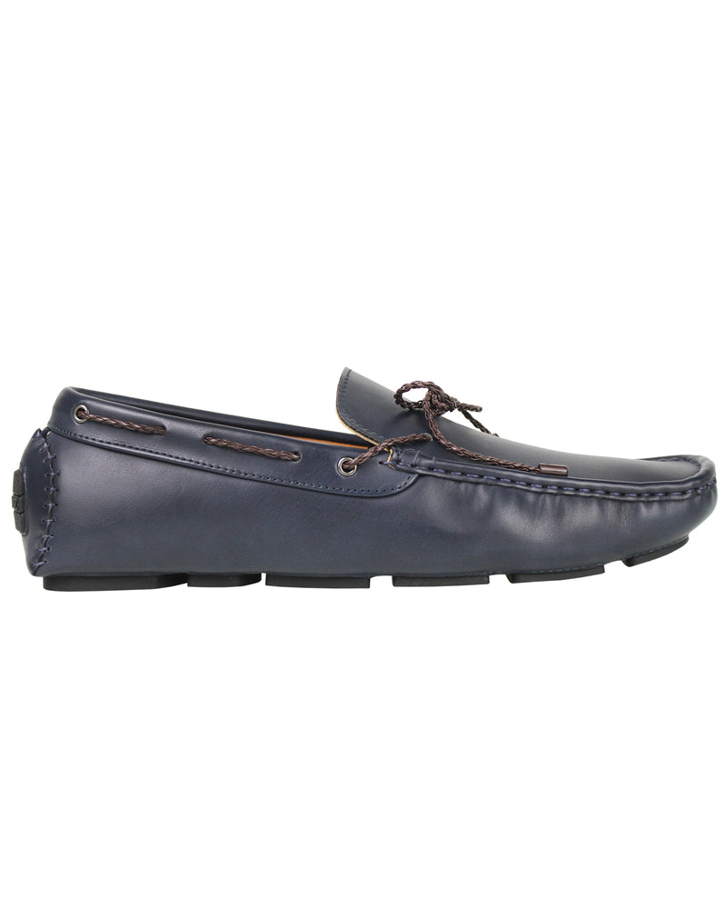 Load image into Gallery viewer, Tomaz C354 Braided Moccasins (Navy)
