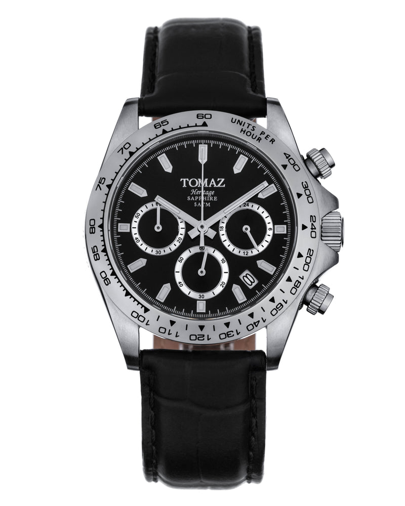 Load image into Gallery viewer, Tomaz Men's Watch GR02 (Silver/Silver/Black)