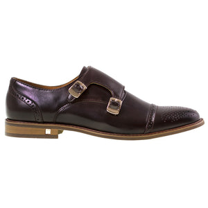Tomaz F119 Perforated Cap-toe Monkstrap (Coffee) - Tomaz Shoes