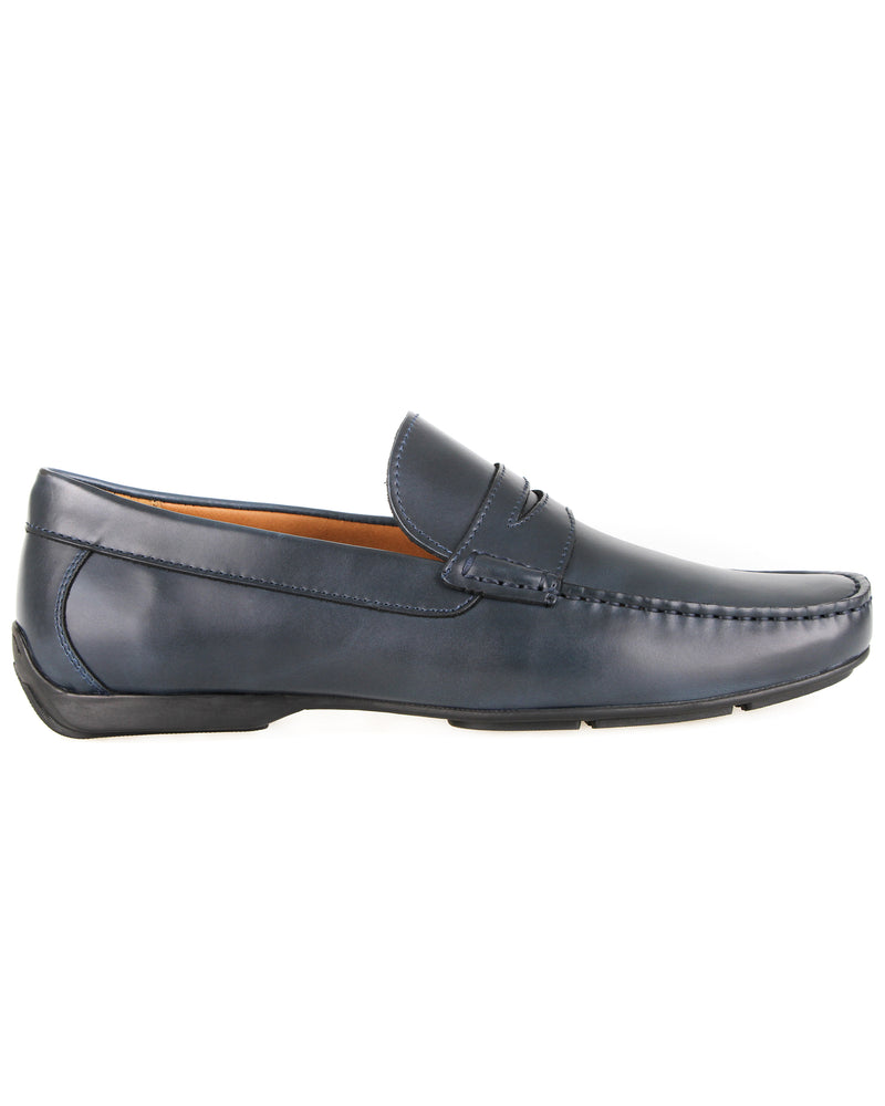 Load image into Gallery viewer, Tomaz C408 Penny Loafers (Navy) men's shoes casual, men's dress shoes, discount men's shoes, shoe stores, mens shoes casual, men's casual loafers men's loafers sale, men's dress loafers, shoe store near me.