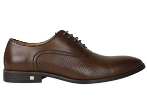 Tomaz F109 Perforated Lace Up Formal (Coffee) - Tomaz Shoes