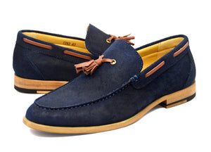 Tomaz C203 Tassel Loafers (Navy) - Tomaz Shoes