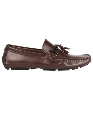 Tomaz C004A Buckled Tassel Loafers (Coffee)