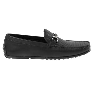 Tomaz BF003 Perforated Buckle Loafers (Black) - Tomaz Shoes