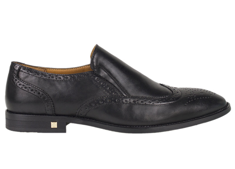 Tomaz F185 Formal Wingtip Brogues (Black) - Tomaz Shoes (782191657049)