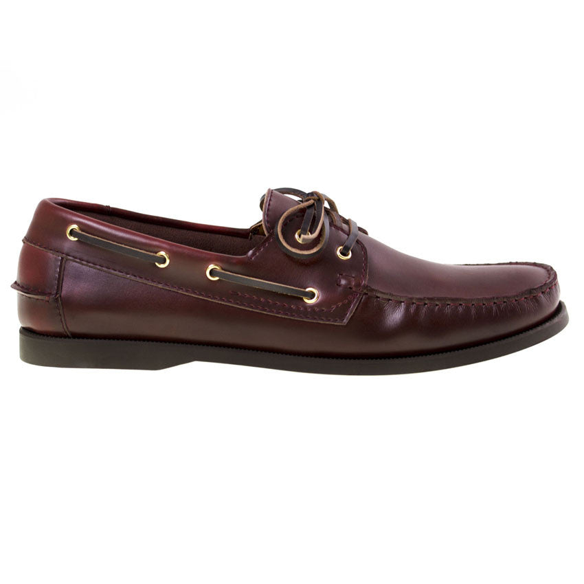 Tomaz BF001 Leather Boat Shoes (Wine) - Tomaz Shoes (8851992840)