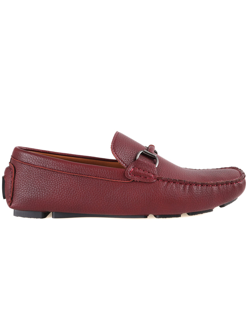 Load image into Gallery viewer, Tomaz C446 Buckle Moccasins (Wine) men's shoes casual, men's dress shoes, discount men's shoes, shoe stores, mens shoes casual, men's casual loafers men's loafers sale, men's dress loafers, shoe store near me.
