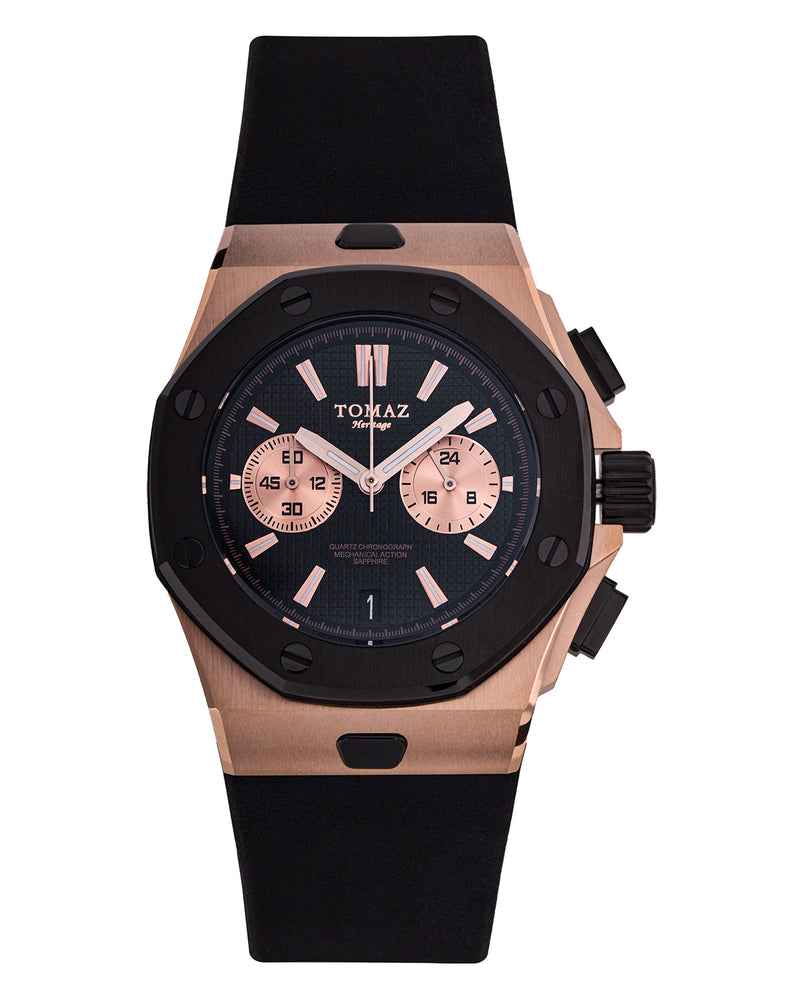 Tomaz TQ011-D2 Men's Watch (RoseGold/Black) best men watch, automatic watch for men, Trending men watch, Luxury watch, Watches of Switzerland, automatic watch for men, jam tangan lelaki, jam tangan automatik, jam kronograf