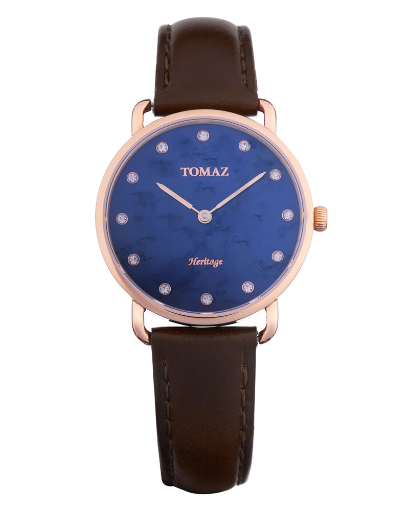 Tomaz Ladies Watch G1L-D15B (Rose Gold/Navy Marble)