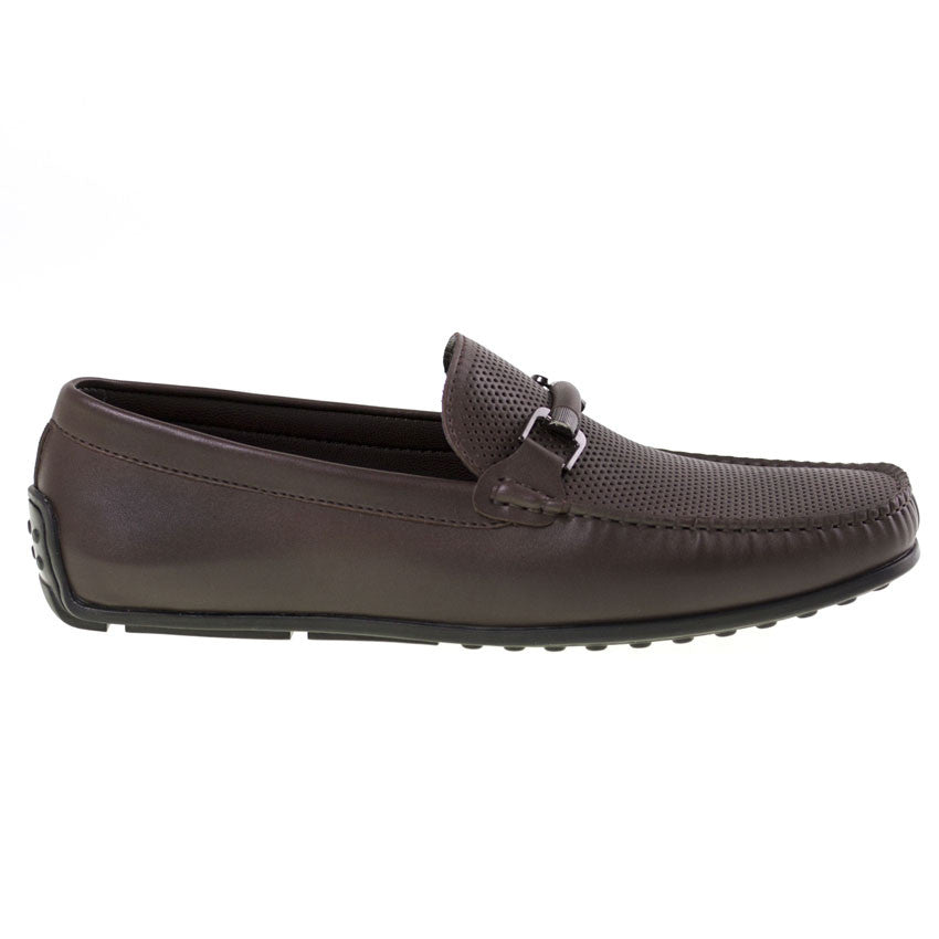 Tomaz BF003 Perforated Buckle Loafers (Coffee) - Tomaz Shoes (8852035720)