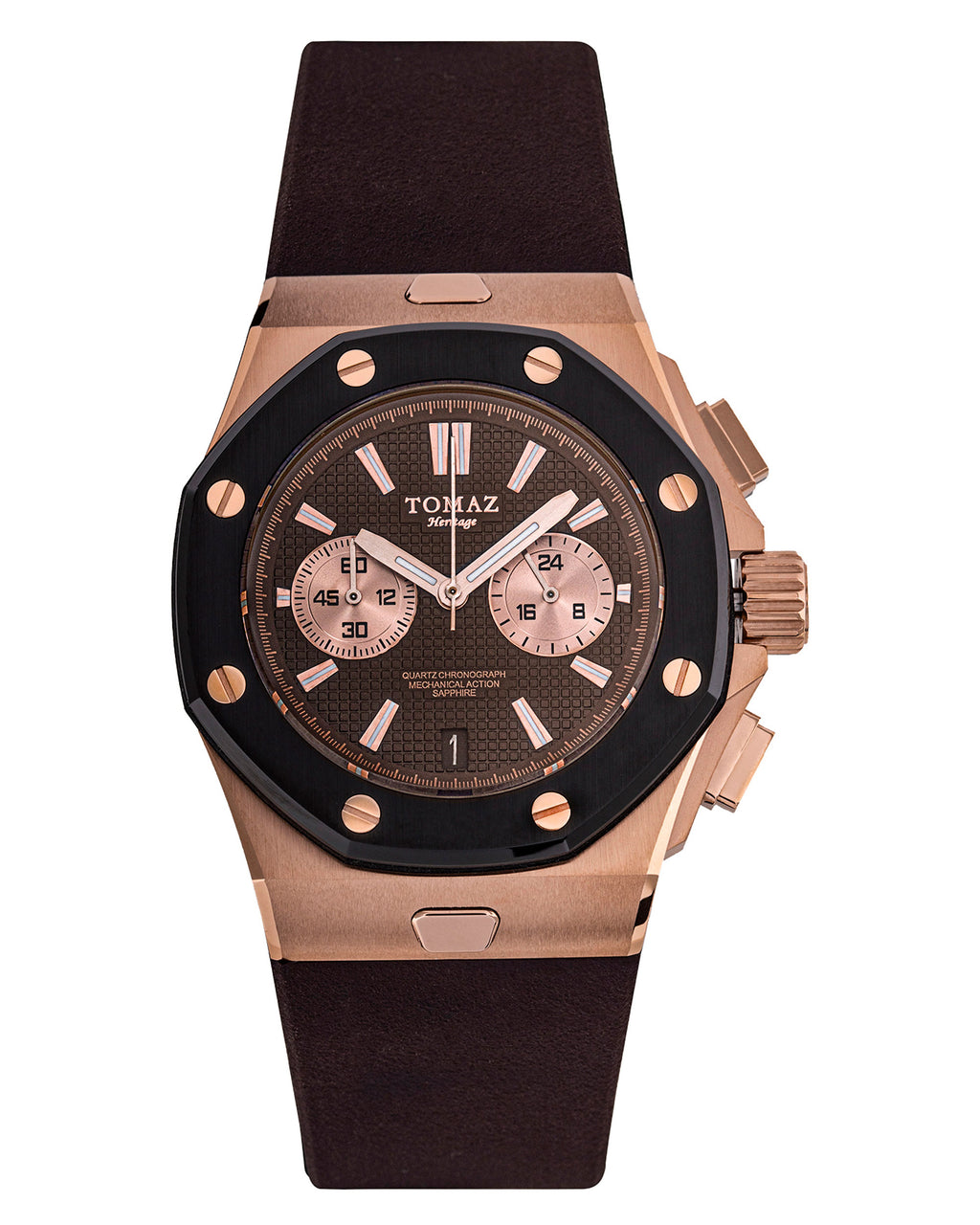 Tomaz TQ011-D4 Men's Watch (RoseGold/Coffee)