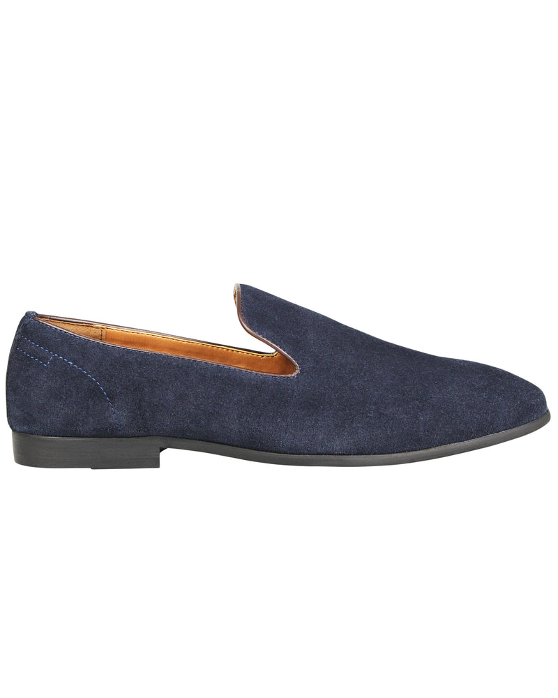 Tomaz F195 Whole Cut Slip Ons (Navy)