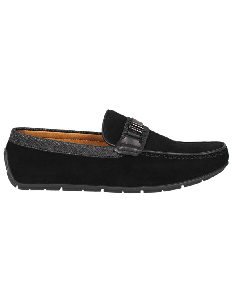 Tomaz C336 Front Buckled Loafers (Black)