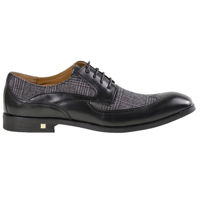 Tomaz F113 Wing Tip Derby (Black) - Tomaz Shoes (8840144520)