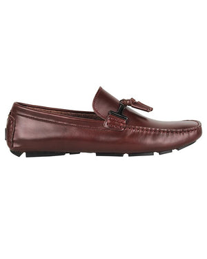 Tomaz C004A Buckled Tassel Loafers (Wine)