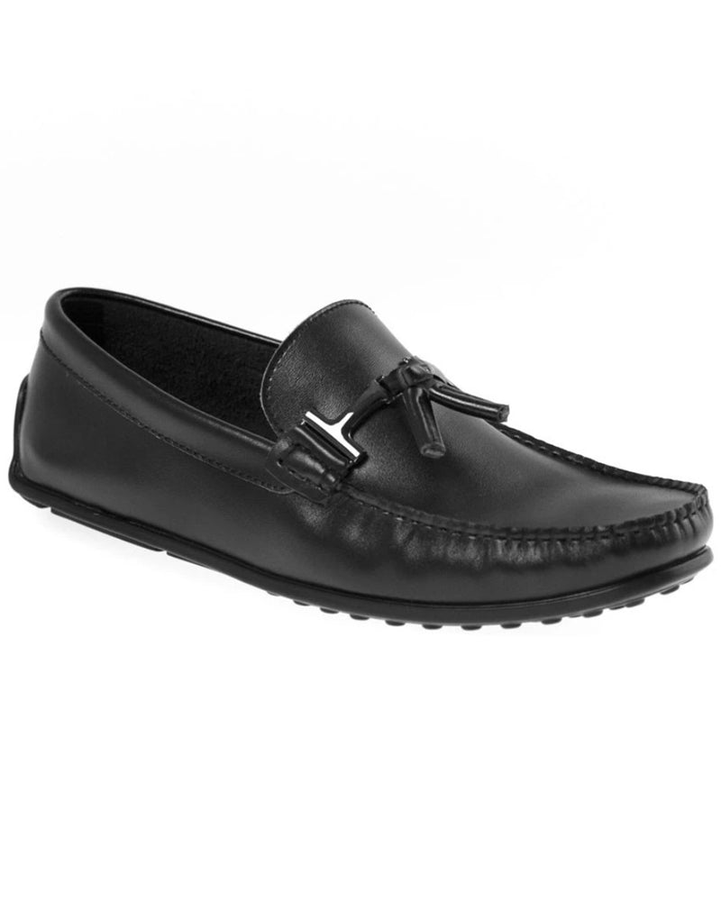 Load image into Gallery viewer, Tomaz BF004 Buckle Moccasins (Black)