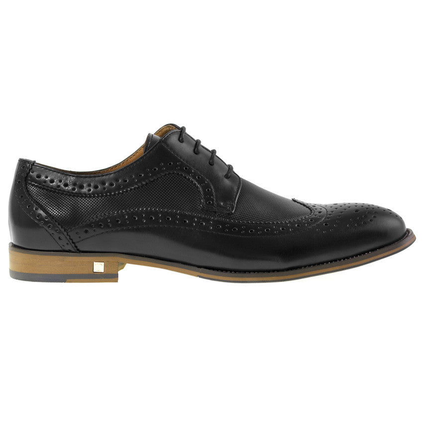 ffc1ddfa8bd Tomaz F120 Wingtip Brogue (Black) - Tomaz Shoes